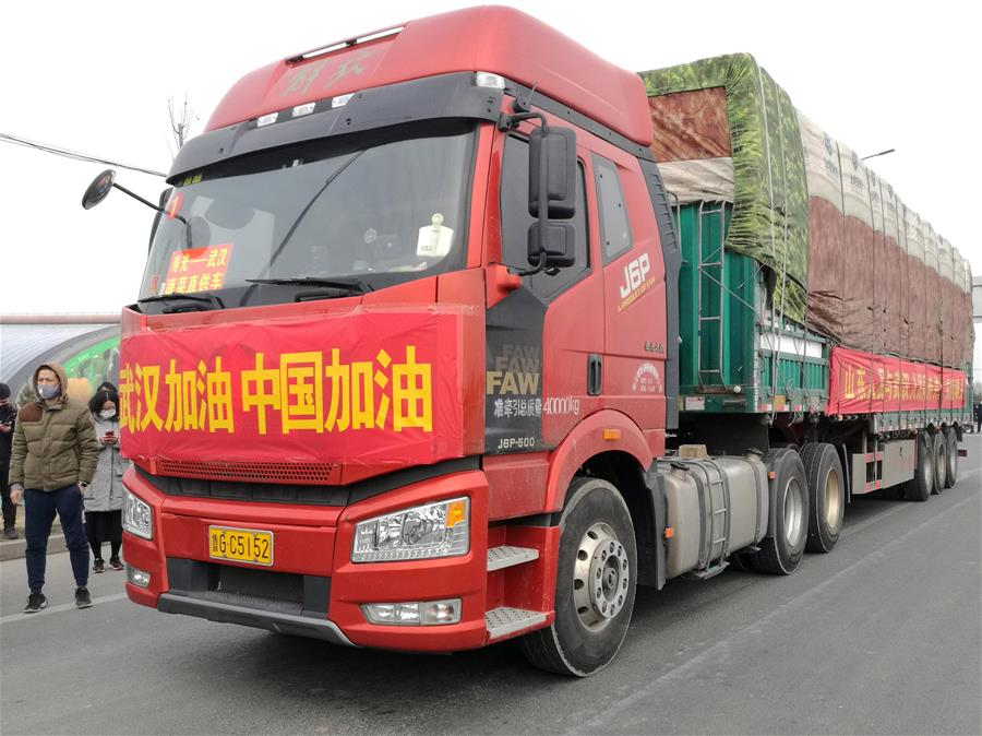 山东捐赠350吨优质蔬菜驰援武汉
